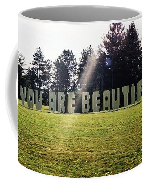 Beautiful Coffee Mug featuring the photograph You Are Beautiful by Samantha L