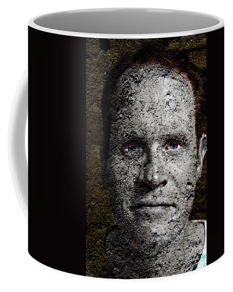 Stone Coffee Mug featuring the painting You Rock by Christopher Gaston