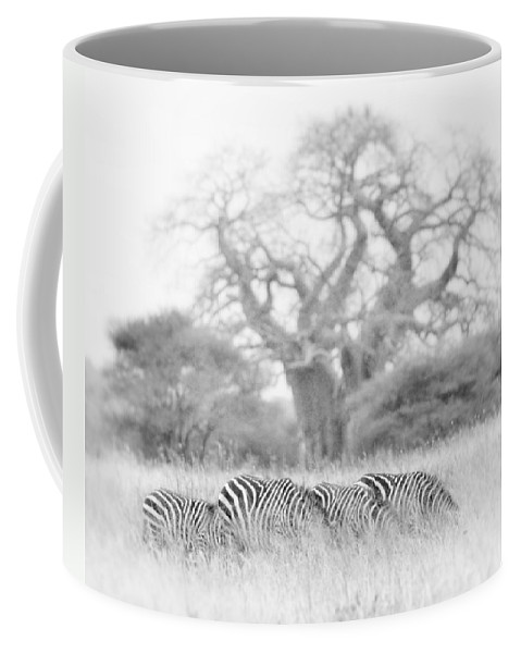 Africa Coffee Mug featuring the photograph Zebra And Tree by Jack Daulton