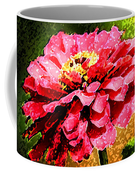 Zinnias Coffee Mug featuring the photograph Zinnia Blast by Rich Franco