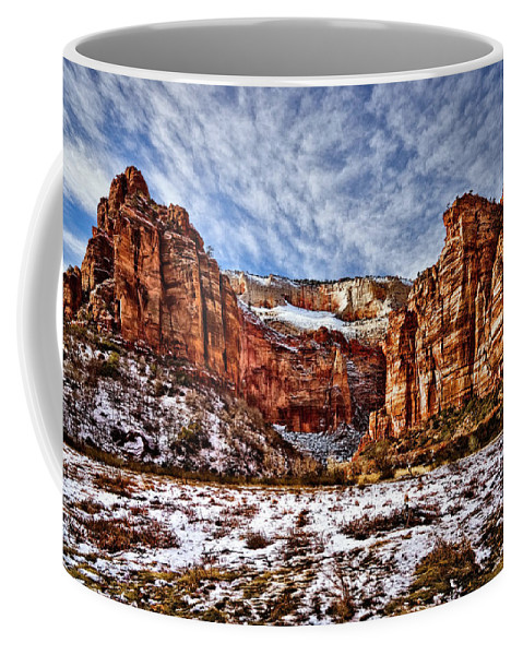 Mountain Coffee Mug featuring the photograph Zion Canyon In Utah by Christopher Holmes