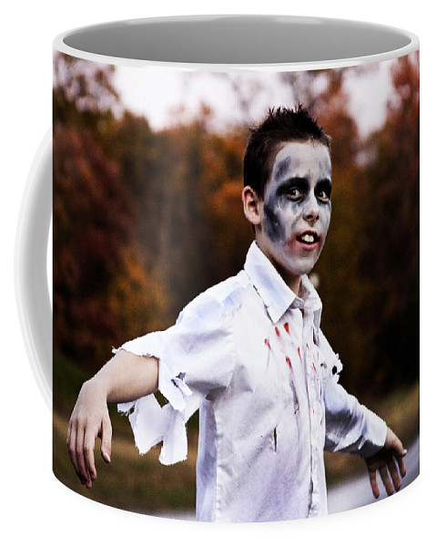 Zombie Coffee Mug featuring the photograph Zombiefied by Molly Picklesimer