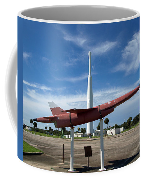 Thor; Able; Thor-able; Missle; U.s.; Airforce; Air Force; Air; Force; Cape; Canaveral; Nasa; Rocket; Coffee Mug featuring the photograph Air Force Museum At Cape Canaveral by Allan Hughes