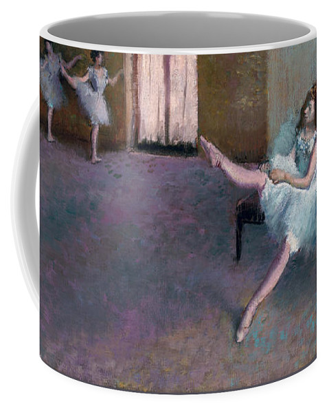 Artist Coffee Mug featuring the painting Before The Ballet by Edgar Degas