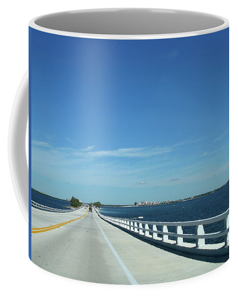 Bridge Coffee Mug featuring the photograph Bridge Over The Sea by Christiane Schulze Art And Photography