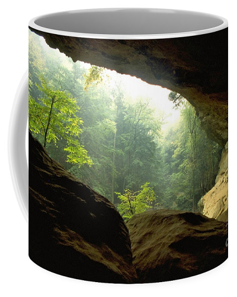 Forest Coffee Mug featuring the photograph Cave Entrance In Ohio by Sven Brogren