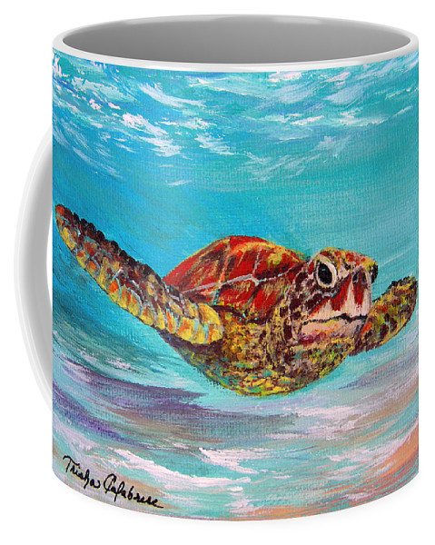Seascape Coffee Mug featuring the painting Cruiser by Trisha Calabrese