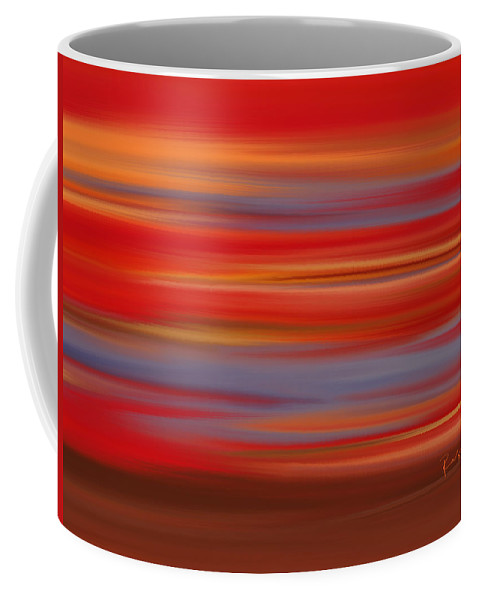 Abstract Coffee Mug featuring the digital art Evening In Ottawa Valley by Rabi Khan