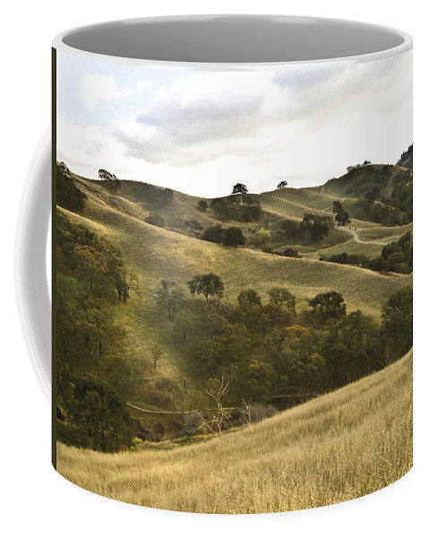 Landscape Coffee Mug featuring the photograph First Hill In Fall by Karen W Meyer