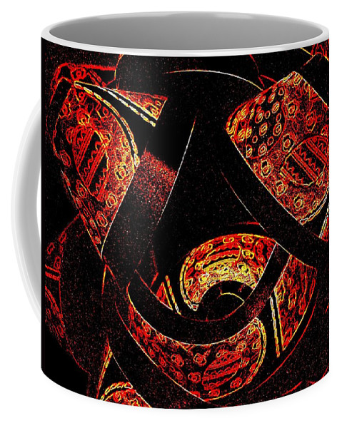 Abstract Coffee Mug featuring the digital art Galactic Flow by Will Borden
