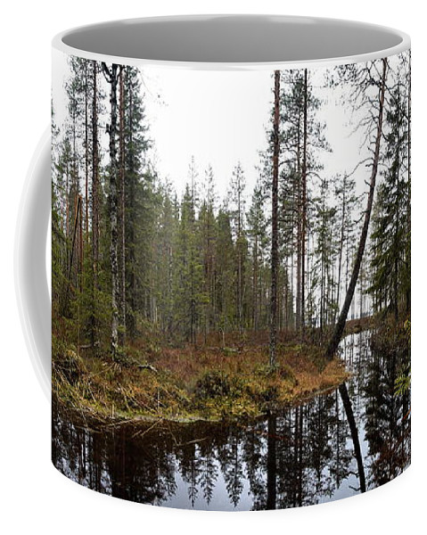 Lehtokukka Coffee Mug featuring the photograph Haukkajoki Panorama 2 by Jouko Lehto
