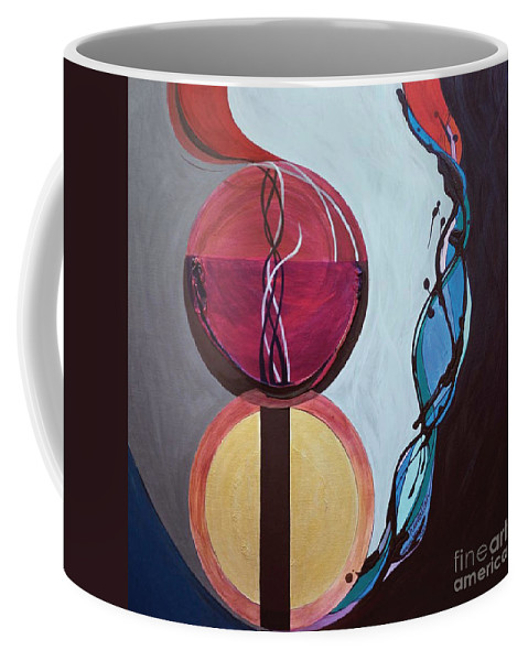 Temple Coffee Mug featuring the painting Havdallah...separation by Marlene Burns