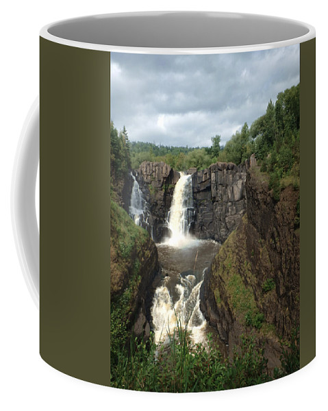 High Coffee Mug featuring the photograph High Falls Grand Portage Mn by Judy Hall-Folde