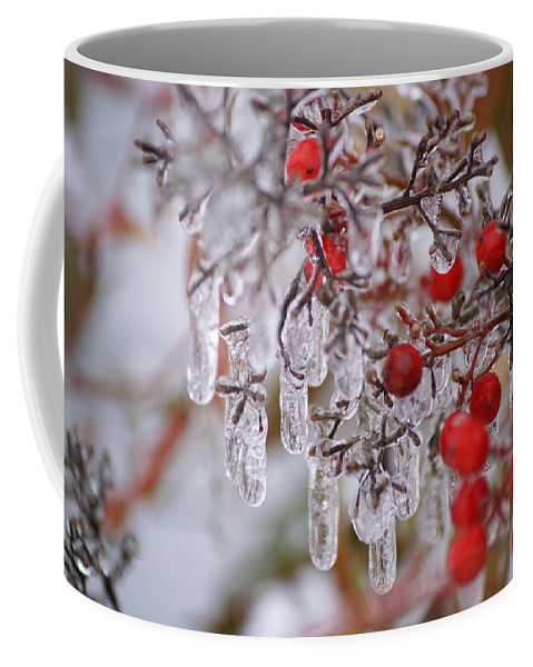 Winter Coffee Mug featuring the photograph Holiday Ice by Heidi Poulin
