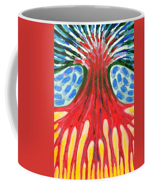 Colour Coffee Mug featuring the painting I Be Burning-hot by Wojtek Kowalski