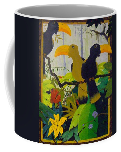 Jungle Coffee Mug featuring the painting Jungle Boogie by Patrick Trotter