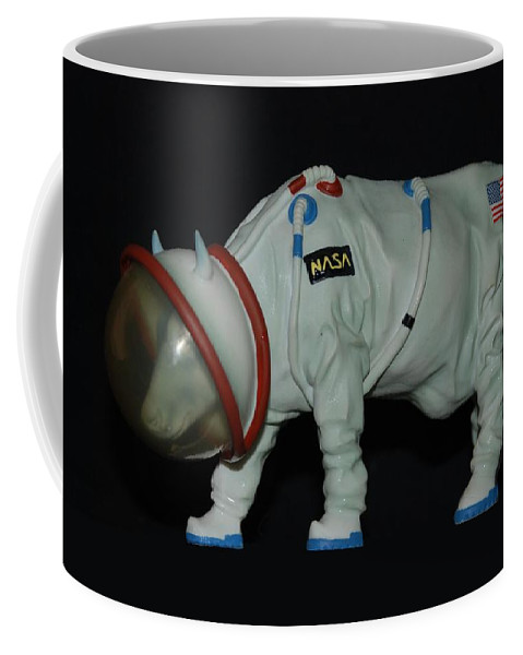 Astronauts Coffee Mug featuring the photograph Maurice The Space Cow Boy by Rob Hans