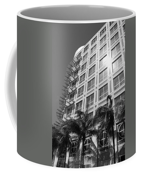 Black And White Coffee Mug featuring the photograph Miami House by Rob Hans