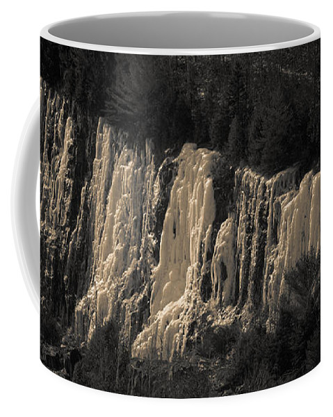 Ledge Coffee Mug featuring the photograph Mountain Side Ice by Sherman Perry