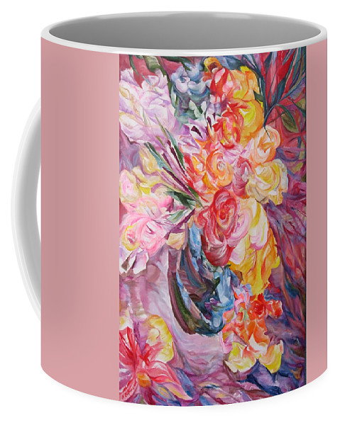 Abstract Coffee Mug featuring the painting My Bouquet by Maya Bukhina