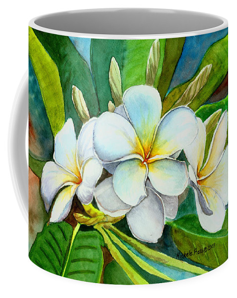 Plumeria Coffee Mug featuring the painting My Favorite by Michele Ross