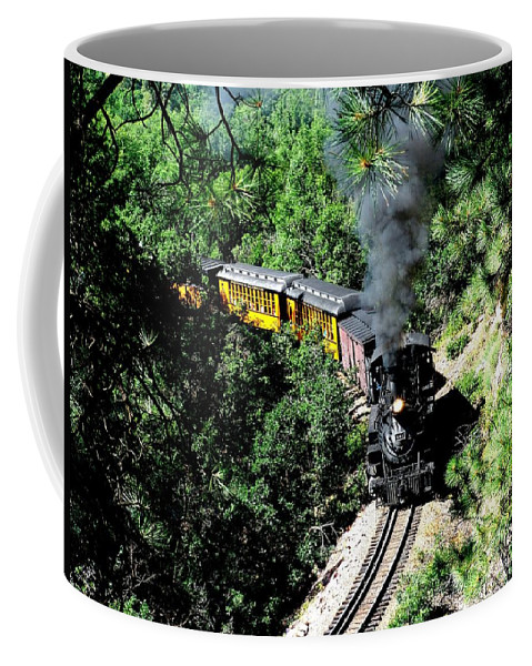 Train Coffee Mug featuring the photograph Nostalgic Moments by Carol Milisen