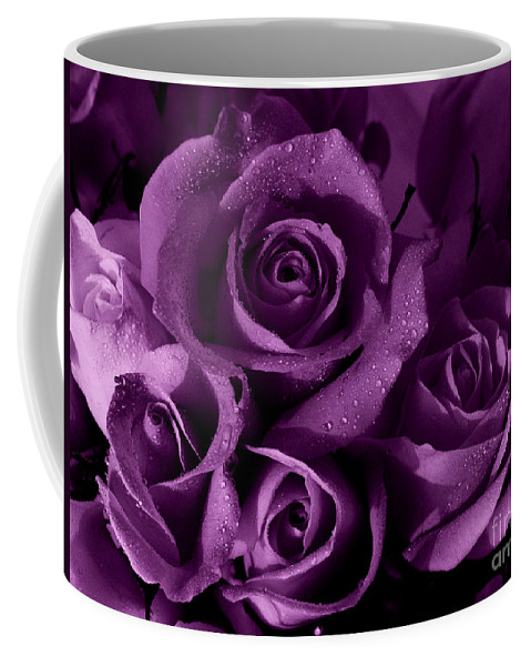 Roses Coffee Mug featuring the photograph Purple Haze by Nancie DeMellia