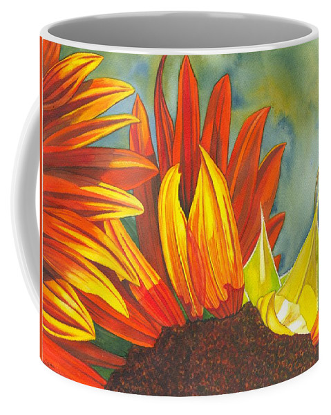 Sunflower Coffee Mug featuring the painting Ray by Catherine G McElroy