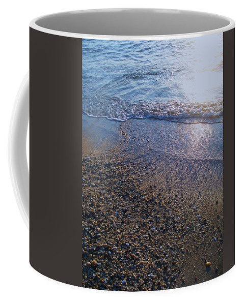 Waves Coffee Mug featuring the painting Refreshing Surf by Eric Schiabor