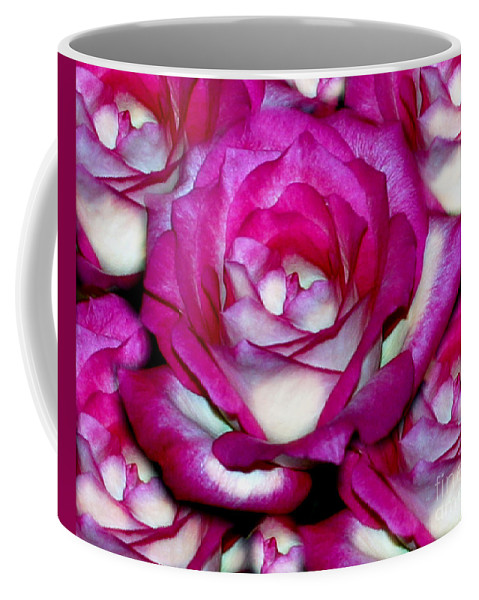 Rose Coffee Mug featuring the photograph Rose Explosion by Madeline Ellis
