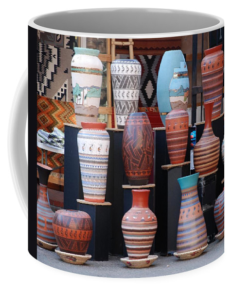 Southwestern Coffee Mug featuring the photograph S W Potery by Rob Hans