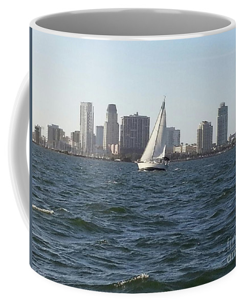 Florida Coffee Mug featuring the photograph Sailing Away by Myrtle Joy