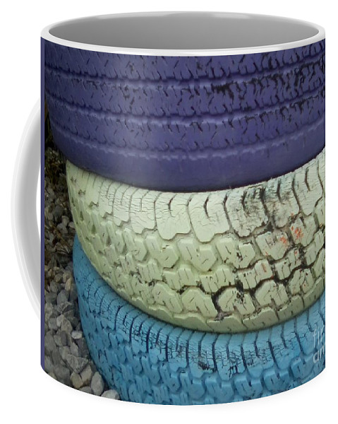 Tire Coffee Mug featuring the photograph Seventies Tires by Joseph Baril