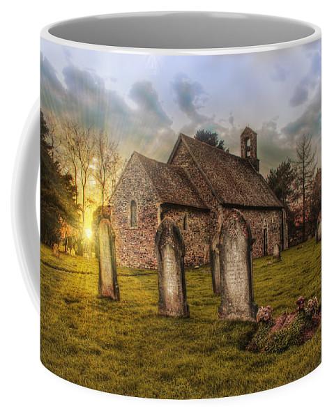 St Oswald At Sundown Coffee Mug featuring the photograph St Oswald At Sundown by Dave Godden
