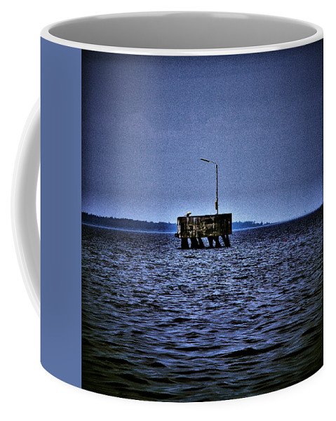 Lehtokukka Coffee Mug featuring the photograph The Dock Of Loneliness by Jouko Lehto