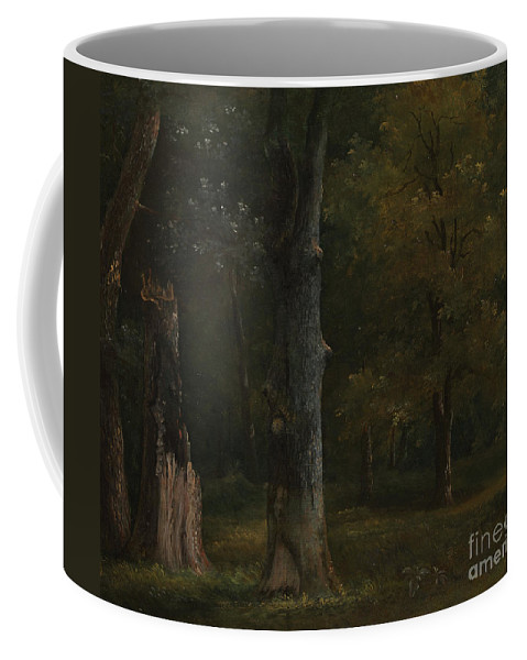 Art Coffee Mug featuring the painting Trees in the Bois de Boulogne by Celestial Images