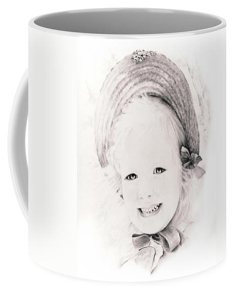 Portrait Coffee Mug featuring the drawing  Trudy by Rachel Christine Nowicki