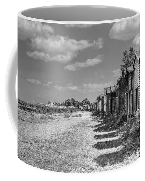 Whitstable Huts Coffee Mug featuring the photograph Whitstable Huts by Dave Godden
