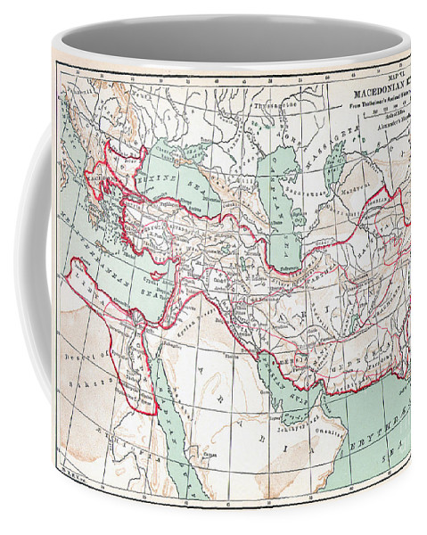3rd Century B.c. Coffee Mug featuring the painting Map Of Macedonian Empire by Granger