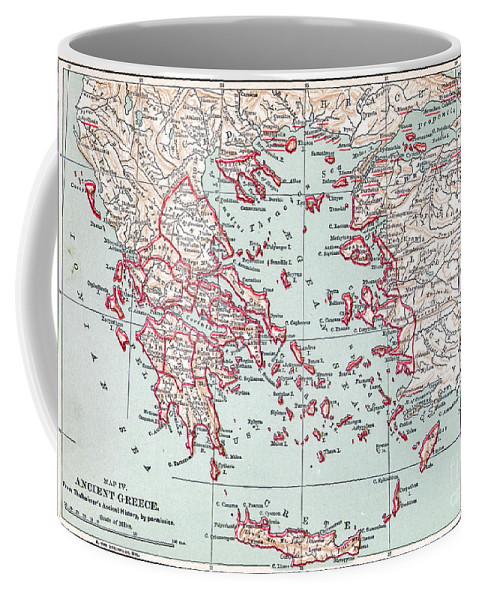 19th Century Coffee Mug featuring the painting Map: Ancient Greece by Granger
