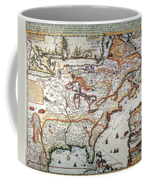1719 Coffee Mug featuring the painting New France, 1719 by Granger