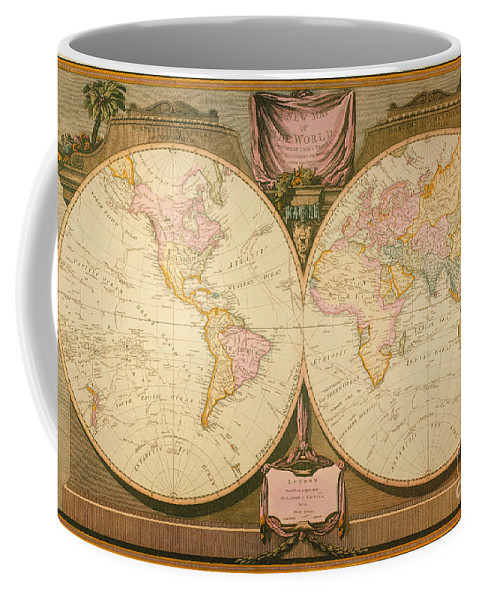 1770s Coffee Mug featuring the painting Captain Cook: Map, 1808 by Granger