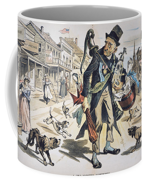 1889 Coffee Mug featuring the painting Prohibition Cartoon, 1889 by Granger