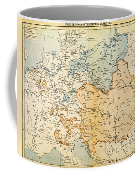 1795 Coffee Mug featuring the painting Austrian Empire Map, 1795 by Granger