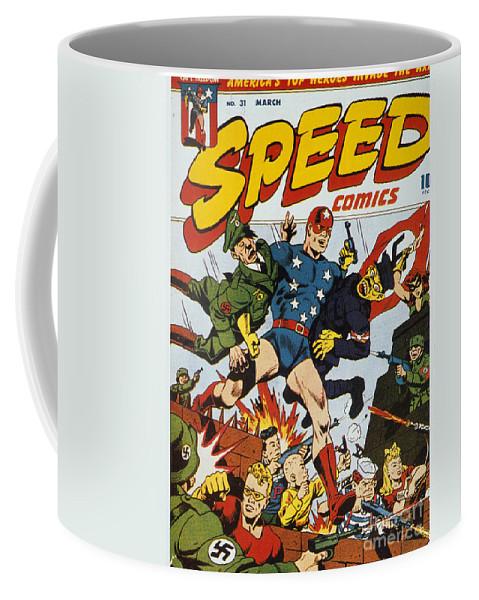 1943 Coffee Mug featuring the painting World War II: Comic Book by Granger