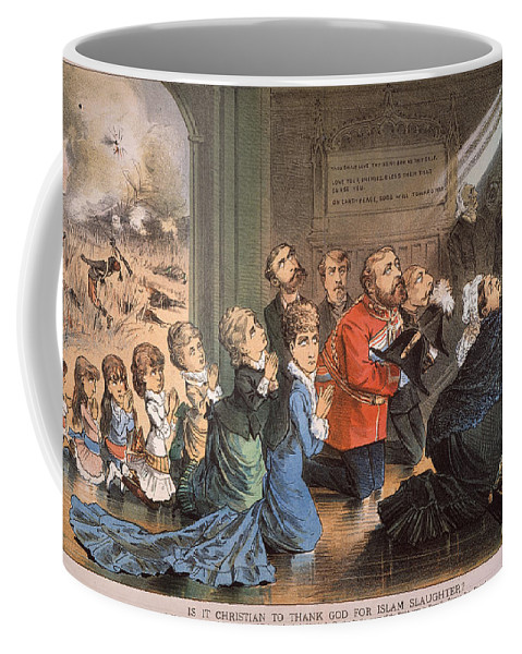 1882 Coffee Mug featuring the painting British Imperialism, 1882 by Granger