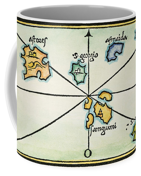 1528 Coffee Mug featuring the painting Azores, 1528 by Granger