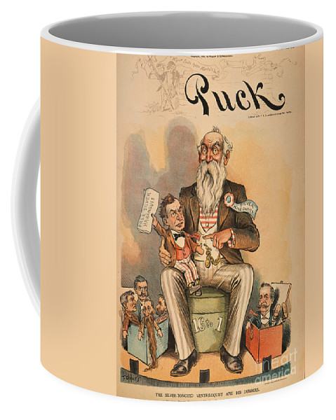1896 Coffee Mug featuring the painting William Jennings Bryan by Granger