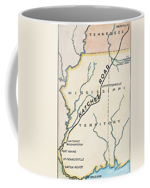 1816 Coffee Mug featuring the painting Natchez Trace, 1816 by Granger