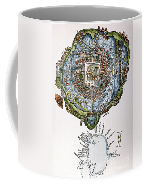 1524 Coffee Mug featuring the painting Tenochtitlan (mexico City) by Granger